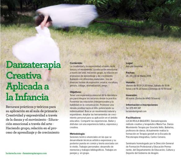 Taller de danzaterapia creativa en Zaragoza por Lucía Reula
