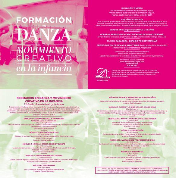 FORMACIÓN DE DANZA Y MOVIMIENTO CREATIVO EN LA INFANCIA